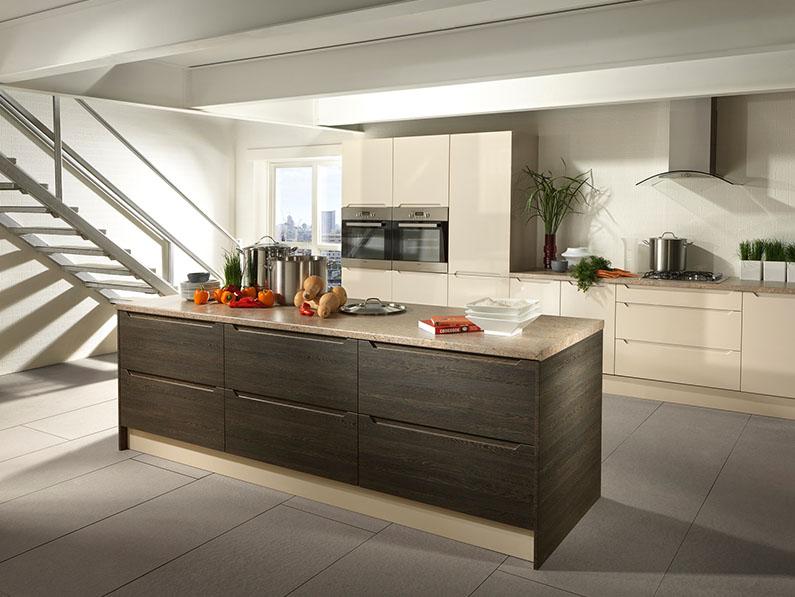 vinyle doors - Avienda - Mali Wenge & High Gloss Sand Beige